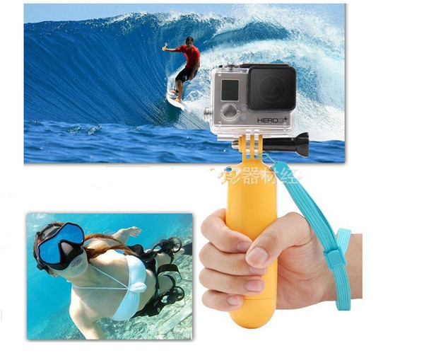 High Quality Underwater Diving Rockered Bobber Advanced Floating Handheld Grip Monopod Stick Floaty Wrist Strap for Gopro Hero1 2 3 Camera