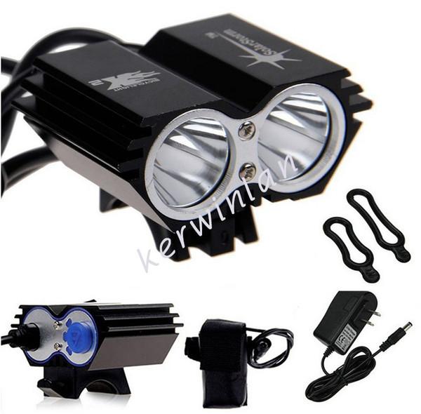 Solarstorm Vélo phare phare 2x CREE U2 LED 2000LM Vélo Avant Vélo Vélo Éclairage Extérieur Flash + Batterie + Chargeur