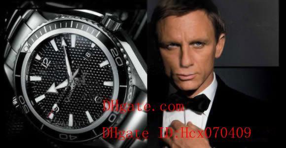 Luxo James Bond 007 Mens Watch Profissional Oceano Planeta Co-Axial Dive Relógio de Pulso Homens Relógios Originais BoxPapers