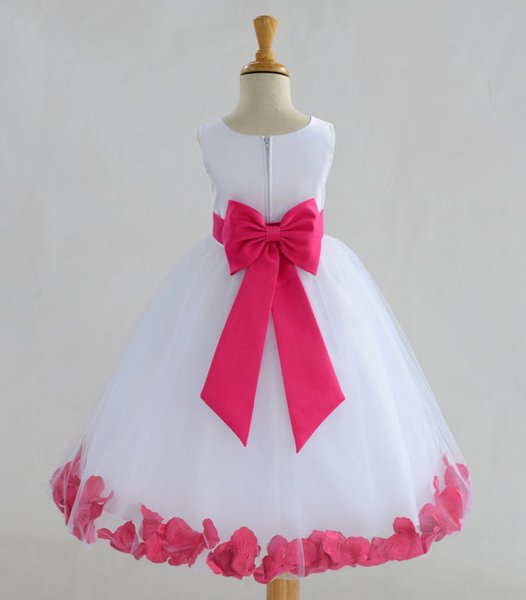 2020 Real Sale Family Clothing Baby Clothes Beautiful Fairy Dress Sleeveless Ball Gown Flower Girl Dresses Girls Pageant First Communion for