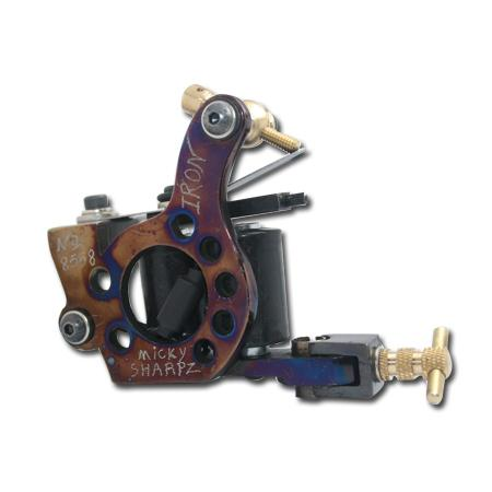 Professional Casting Iron Tattoo Machine 10 Wraps coil stainless steel Tattoos Body Art Gun Makeup 1100801-2