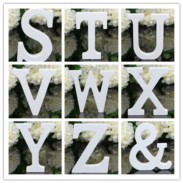 Nuevo hogar jardín madera gruesa madera letras blancas alfabeto boda cumpleaños 8 cm x 1,2 cm decoración decoración