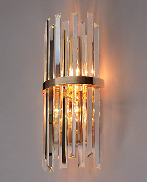 Acquista Moderno LED K9 Cristallo Applique Da Parete Corridoio Soggiorno  Villa Di Lusso Hotel Camera Da Letto Lampada Da Comodino Casa Specchio LED  ...