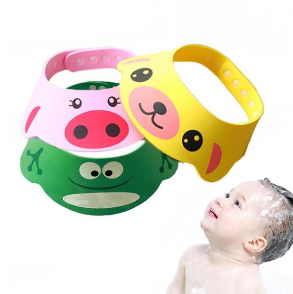 3/couleurs 【 Baby Shower Chapeau//capuchon 】 Lovely r/églable enfants Shield caches EVA b/éb/é Shampooing Douche Chapeau