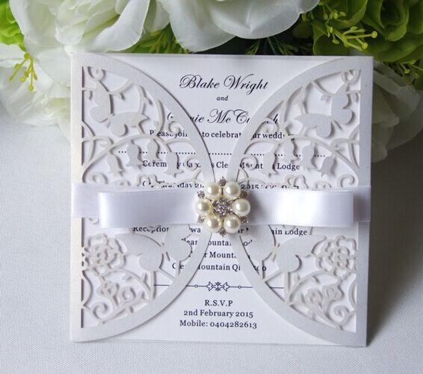 cheap laser cut butterfly wedding invitations wholesale +envelope, Wedding invitations