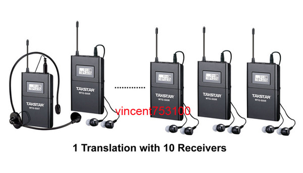best selling Takstar WTG-500 Wireless Acoustic Transmission System Tour Guiding Simultaneous Translation Audio-visual Eduation 1 transmitter 10 receivers