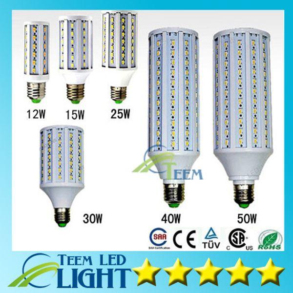 best selling DHL Ultra bright Led Corn light E27 E14 B22 SMD 5630 85-265V 12W 15W 25W 30W 40W 50W 4500LM LED bulb Lighting Lamp