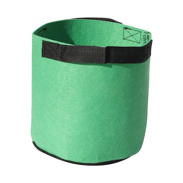 Free shipping 3Gal /5Gal/7Gal/10Gal Round Non-woven Fabric Plant pots Pouch Root Container Grow Bag Flower Pots Container Garden Planters