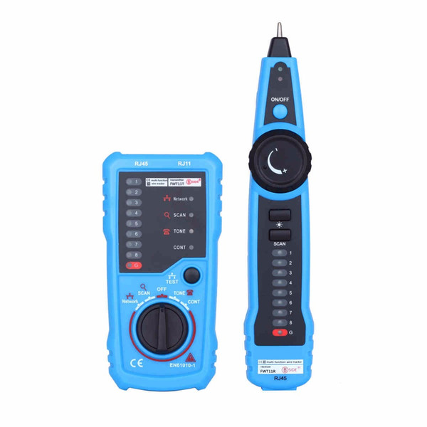 Network Ethernet Cable LAN Tester Tracker Phone RJ45 RJ11 Wire Cable Detector