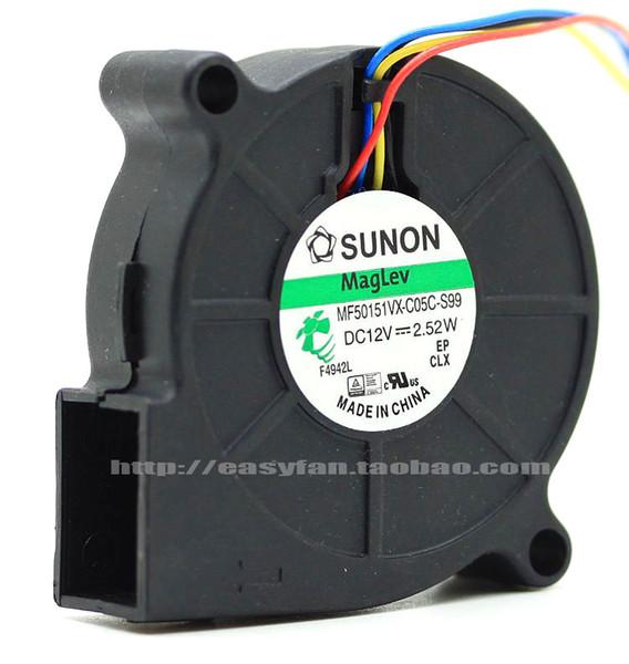 top popular Original SUNON MF50151VX-C05C-S99 12V 5015 blower MF50151VX-C000-G99 MF50151VX-B00C-A99 MF50151VX-B00C-G99 cooling fan 2021