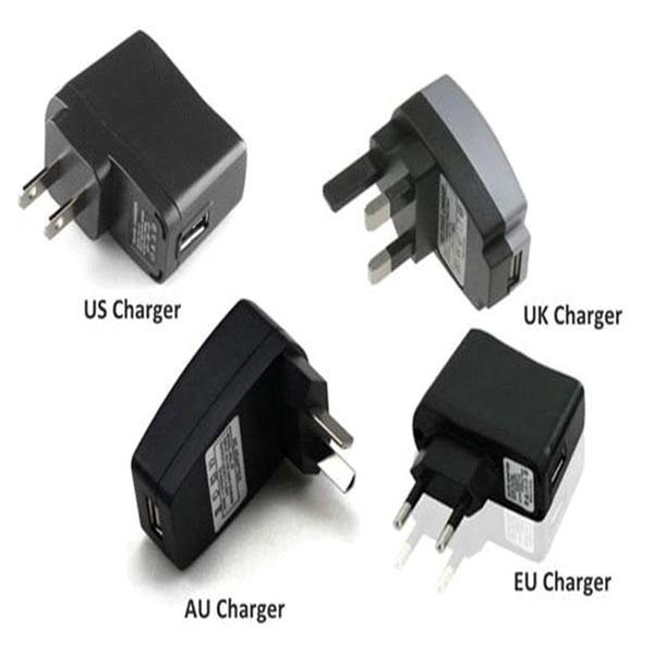 Wall Charger for USB Charger for Electronic Cigarette E-cigarette E-cig Ego t Ego Adapter Kits US UK EU AU Charger Great Quality DHL Free