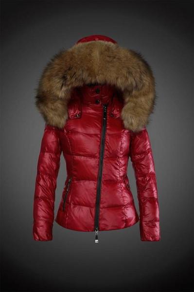 best selling New brand woman fashion Luxury short down jacket real Raccoon fur collar hoodies parkas Top down coat brand parkas