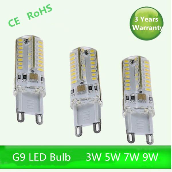 5-pack G9 white/warm 3W/5W/7W 3014 SMD Dimmable AC110V-130V AC220v-240V LED Lamp Bulb chandelier lamp 360 Beam Angle