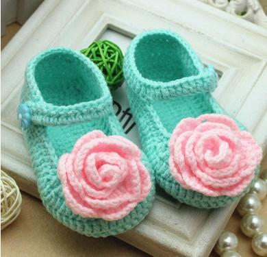 2015 new flower girl crochet shoes Toddler cotton Shoes Handmade infant Shoes baby First walker shoes 0-12M cotton