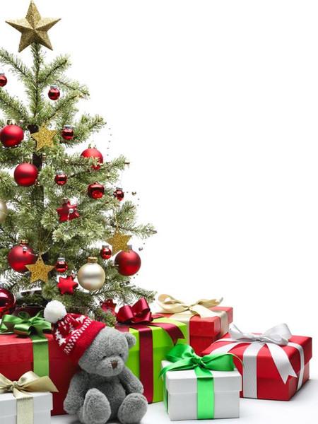 christmas photo backdrops The Christmas tree bear children 5x7ft(1.5x2.2m) vinyl backdrops for photography ZJ
