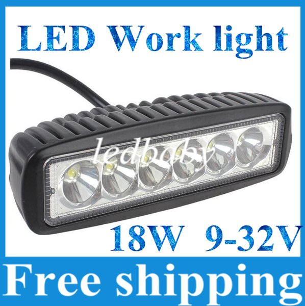 18W CREE LED Work Light Bar JEEP Spot Fendinebbia Fendinebbia 12V 24V 6LED * (3W) 1600lm IP67 OffRoad Moto Truck Driving
