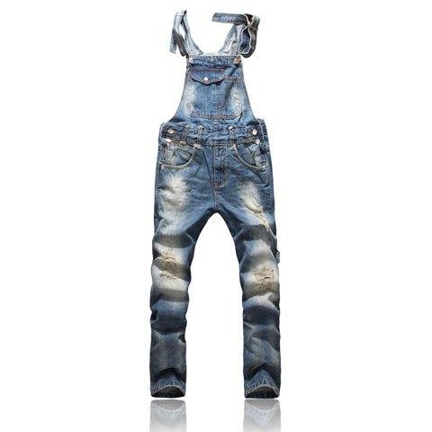 top popular Front Pocket Design Relaxed Front Pocket Design Relaxed Fashion Denim Overalls For Men Overalls For Men 2019