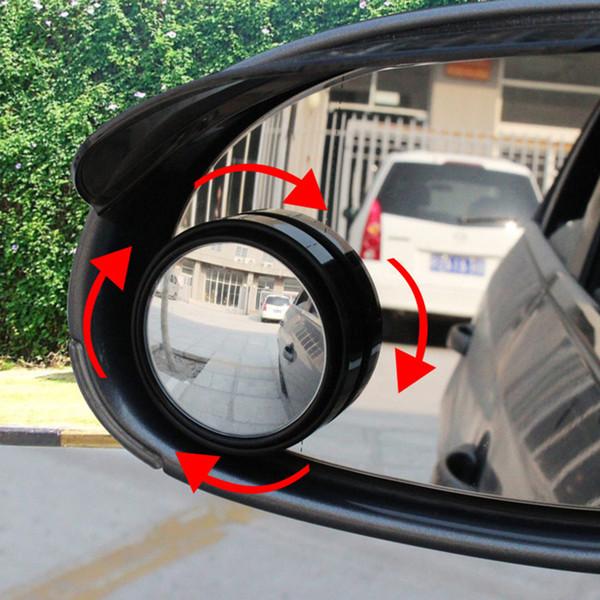 Gros-1 paire Nouveau Conducteur 2 Côté Grand Angle Rond Convexe Automobile Automobile Véhicule Miroir Aveugle Taches zone Vue Arrière pour la conduite de stationnement