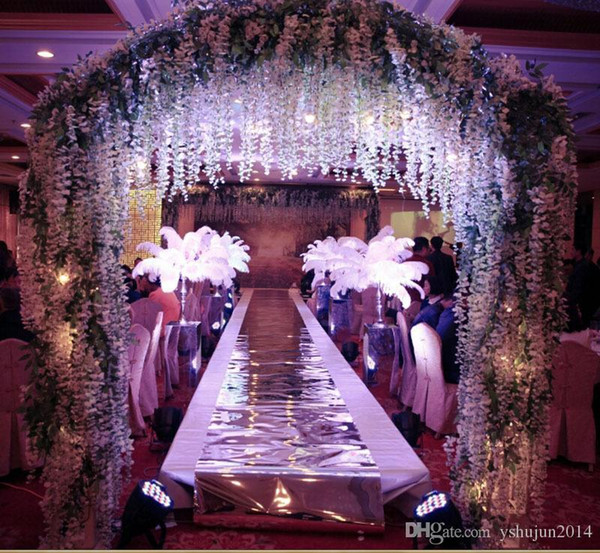 Multicolor Ostrich Feather Plume white Wedding centerpieces table centerpiece party Decorations 2016 new style hot selling