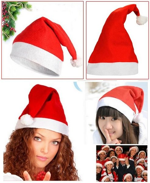 top popular Christmas Hats Red adults Christmas Cosplay Hats New Year Decoration Christmas Decoration Cloth Hats Santa Clause Navidad Caps Festival 2021