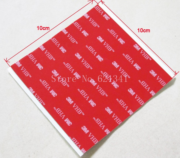 Wholesale-10sheets/lot 3M VHB 5608A 100mmx100mm Acrylic Foam Double Sided Attachment Extremely Strong Adhesive Tape
