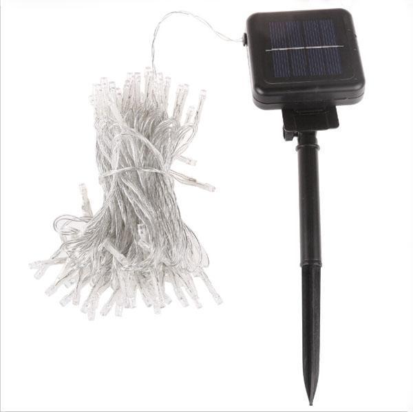 Neueste Wasserdichte 10 Mt 80 LED Solar Lichter String Fairy Outdoor Garten Wasserdicht X'mas Weihnachtsfeier Dekoration Lampe weiß und warm w