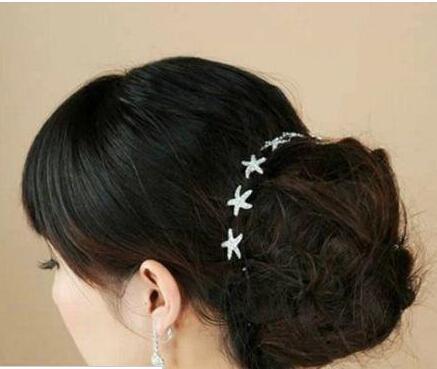 5 Stück Glitter Kristall Strass Haarnadeln Hochzeit Brautparty Prom