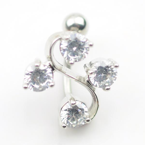D0121-1 ( 1 color ) Nice style Navel belly ring 10 pcs Piercing body jewelry CLEAR color stone drop shipping
