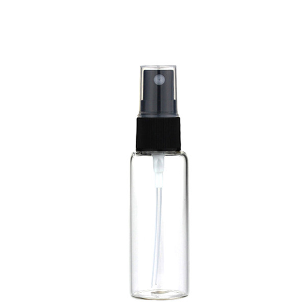 20ML Mini Amber Glass Spray Bottle Atomizer Black Sprayer Refillable Perfume Bottle Vial Fine Mist Empty Cosmetic Sample Gift Container