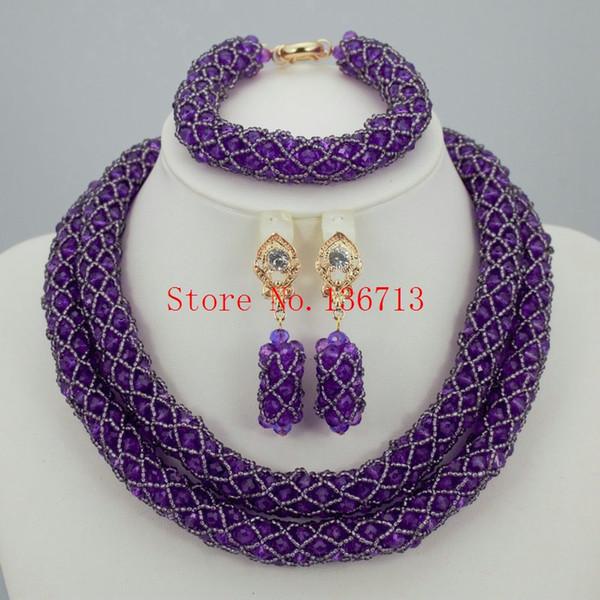 Frauen Party Vergoldet Afrikanische Perlen Schmuck Sets Kristall Kreuz Halskette Armreif Ohrringe Ring Hochzeitskleid Zubehör Kostüm ST203-4