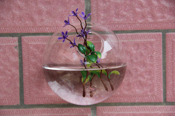 Clear Transparent Hanging Glass vase Air Plant Wall Glass Terrarium hanging Wall Bubble Terrarium for wall decor home party decoration