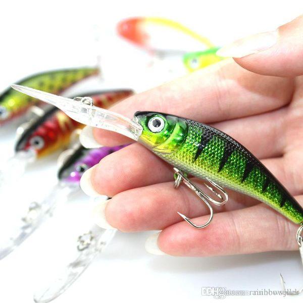 Pesca de agua dulce Crankbait Señuelos duros 10 cm 7.6 g 7 colores Realista mini Walleye Runner Shad cebo para la pesca del pez gato bajo