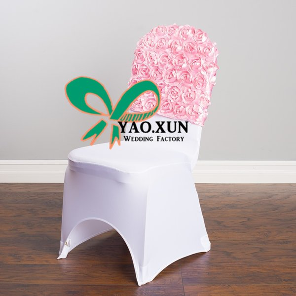 High Thick Satin Rosette Chair Cap \ Hood Used For Banquet Spandex Chair Cover Free Shipping