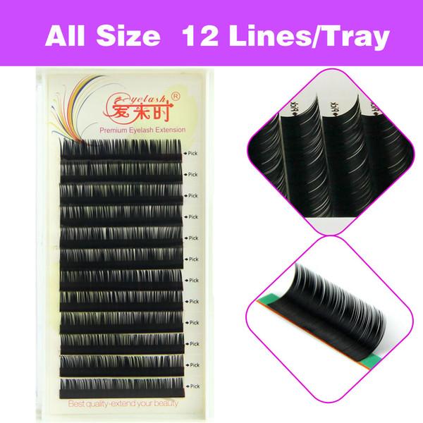 All Size 5Trays/lot Newcome Korea Eyelash Extension Individual Volume Eye Lashes Makeup Tools