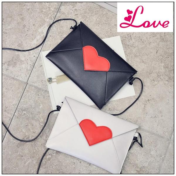 Lucia 's Woman Small Shoulder Bags PU Leather Fashion Female Crossbody Bag Cute Love Heart Pattern Girls Bags