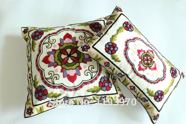 Mode tissu épais décorer brodé Taie d'oreiller rectangle Taie d'oreiller mitre carrée oreillers décoratifs