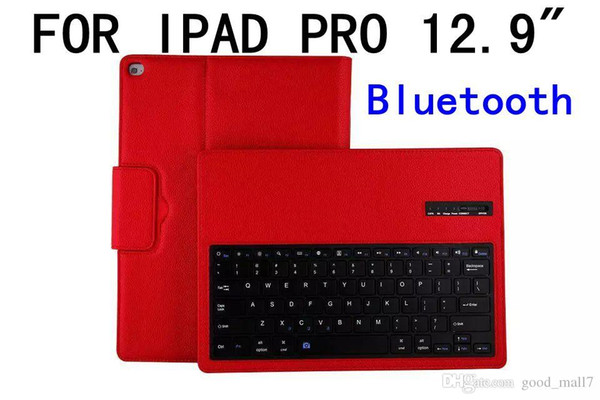 """Wireless Bluetooth Keyboard Case For ipad pro 12.9""""inch Tablet pc Leather Smart Cover stander 10pcs"""