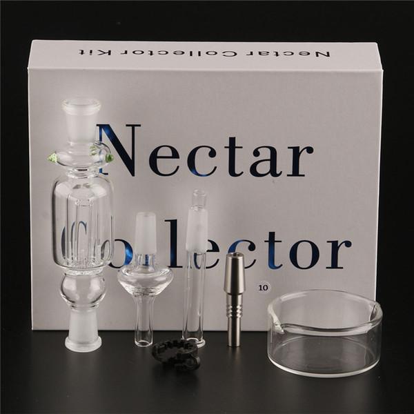 Nectar Collector kit miele paglia Tubi per acqua in vetro bong quarzo titanio 10mm14mm 18mm Pipa in vetro Narghilè con clip