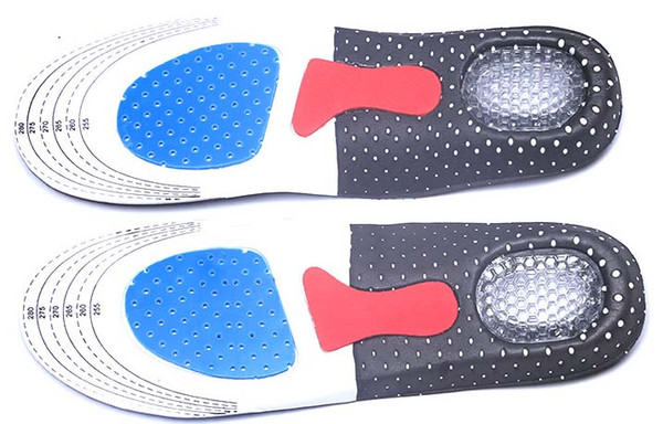 Free DHL Men Gel Orthotic Sport Running Insoles Insert Shoe Pad Arch Support Cushion For Women Football Deodorization Soft Insole SZ16-I01