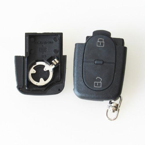 For small CR1620 battery 2 button remote key blank shell FOB key cover for Aud A4 A6 old models