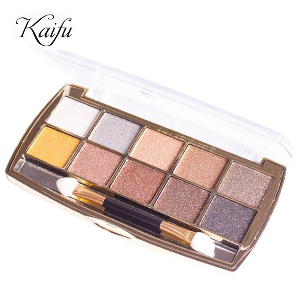 Wholesale- 10 Color Eye shadow palette Fashion Cosmetics Mineral Make Up Makeup eyeshadow set for women 6 Style Color