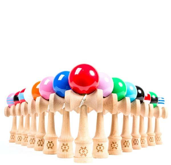 Children Sports Toys Factory Price Spring Jumbo Kendama Ball Japanese Wood Education Game Round Ball 18*6*7cm Cheap Free Shipping