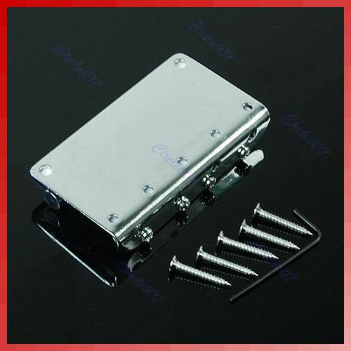 2013 Free Shipping New Chrome Vintage Style Bridge For Fender Jazz Bass Guitar With 5 Screws order<$18no track