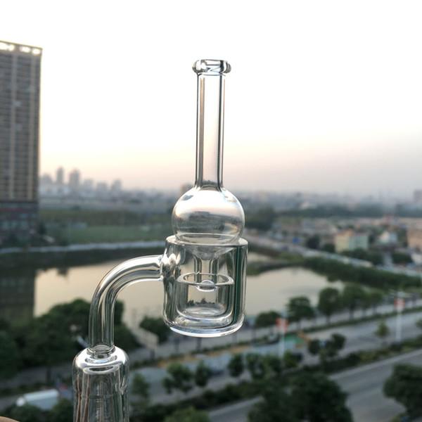 3mm XL flat top quartz banger nail with Removable quartz insert bowl and glass carb cap Quartz Thermal Banger for Bongs Oil Rigs