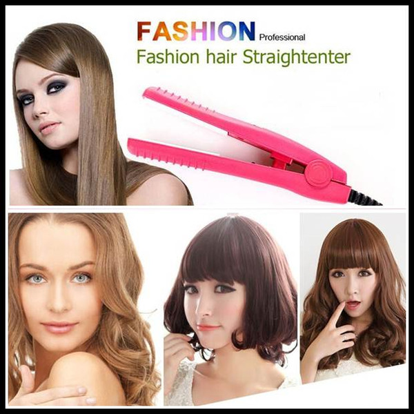 2015 Mini Cerámica Electrónica alisadores para el cabello Enderezar hierro corrugado Staighter Hierro para mujeres niñas belleza herramienta
