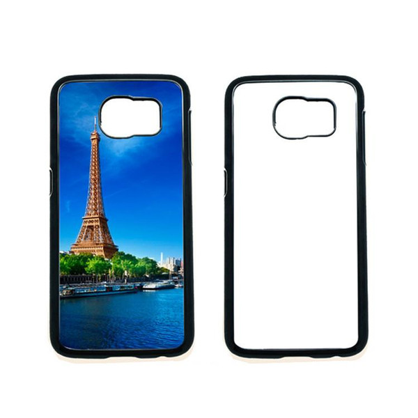 Samsung S6/S6 Edge PC Cases DIY Sublimation Heat Press Cell Phone Cases With Metal Aluminium Plates Accept Mixed Models DHL Free Shipping