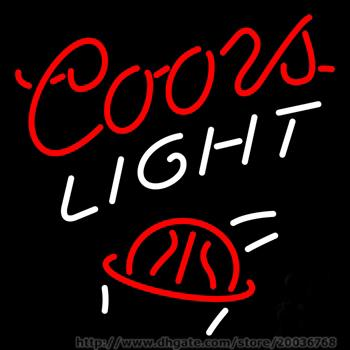 """Hot Coors Light Basket Ball Neon Sign Handcrafted Custom Real Glass Tube Neon Lamp Game Room Sport Advertising Dsiplay Neon Signs 17""""X14"""""""