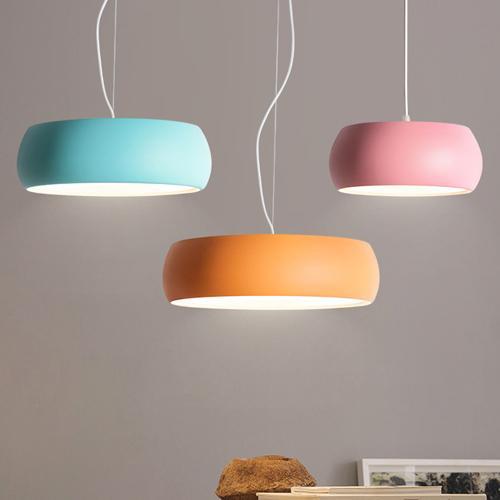 led pendant chandelier lights creative personality Macarons modern minimalist nordic warm sweet dining room light bedroom study lamps