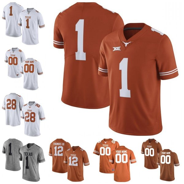 60917ab46 ... Stitched NCAA College Football Jerseys S. Texas Longhorns #20 Earl  Campbell 34 Ricky Williams 10 Vince Young 12 Colt McCoy White
