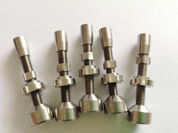 14mm & 18mm Ajustable titanium nail GR2 Double Adjustable Titanium Nails Double Jointed Adjustable Titanium Nail carb caps honey bucket